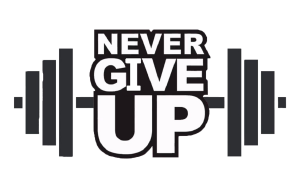 logo never give up